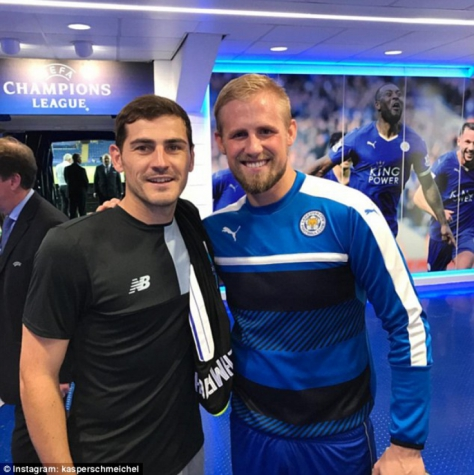 Casillas e Kasper Schmeichel apó duelo no King Power