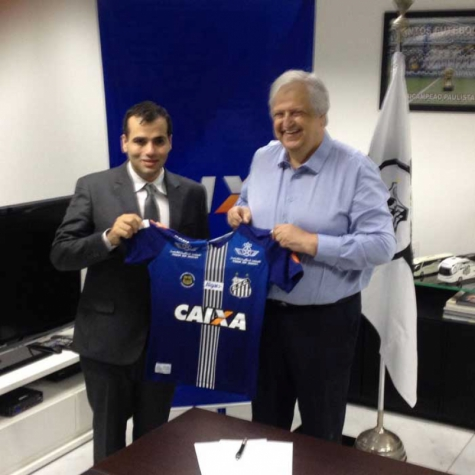 06ec511d0b Novo uniforme do Santos já tem o logo da Caixa estampado (Foto   Reprodução Twitter)
