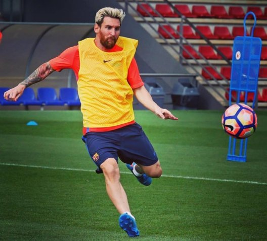 Messi - Treino do Barcelona