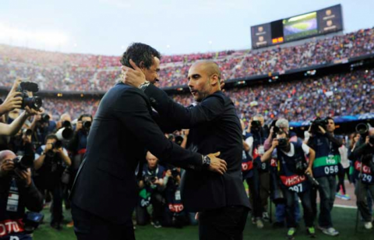 Luis Enrique e Pep Guardiola