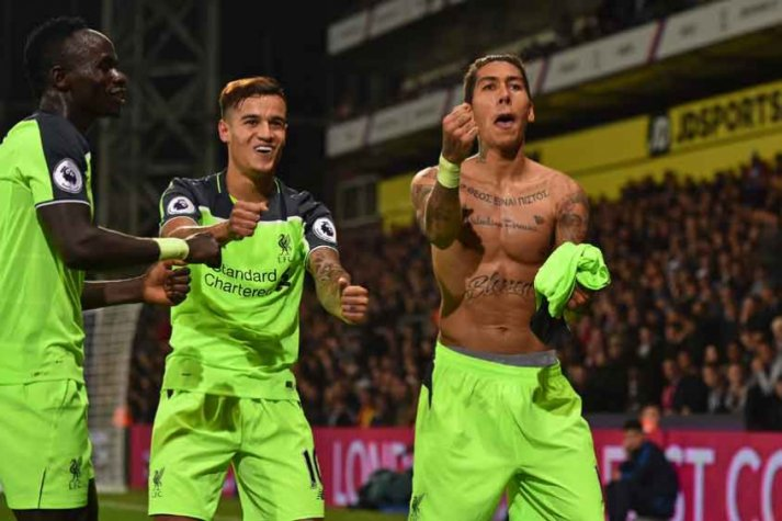 Coutinho e Firmino - Crystal Palace x Liverpool