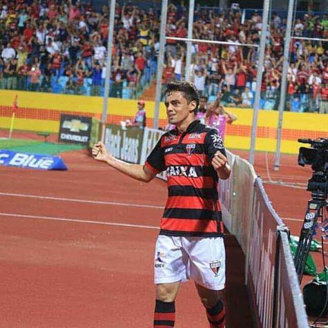 Lateral-direito Matheus Ribeiro, do Atlético-GO  Crédito: Divulgação / Atlético/GO