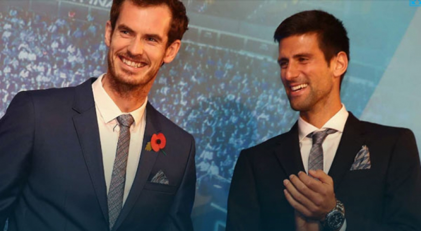 Andy Murray e Novak Djokovic no Finals