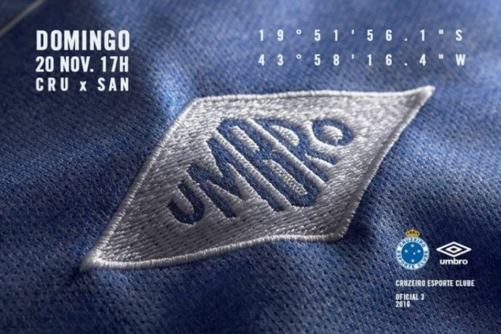 Cruzeiro vai lançar terceira camisa antes da partida contra o Santos ... ca5a6abed4633