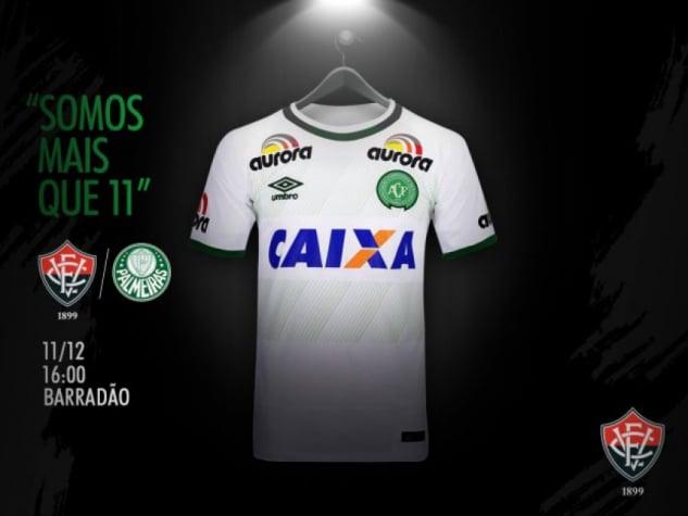 Vitória também usará a camisa da Chapecoense contra o Palmeiras  94b457ec93db8