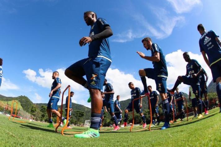Rafael Vaz em treino do Flamengo