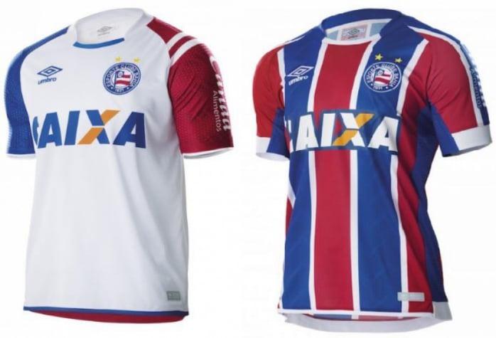 bcc7544f35bd1 Bahia lança uniforme reserva e titular confeccionado pela Umbro