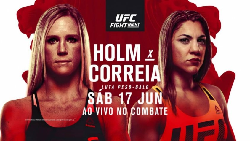 Holly Holm e Bethe Correia fazem a luta principal do UFC Fight Night Singapura