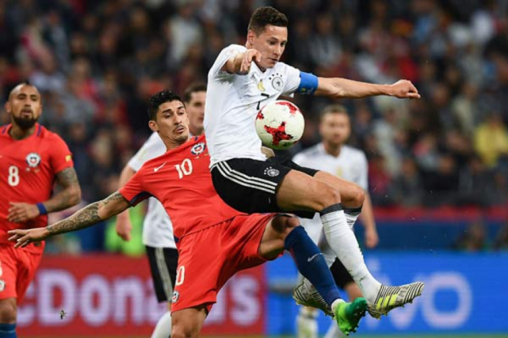 Alemanha e Chile empatam a uma bola e adiam decisões