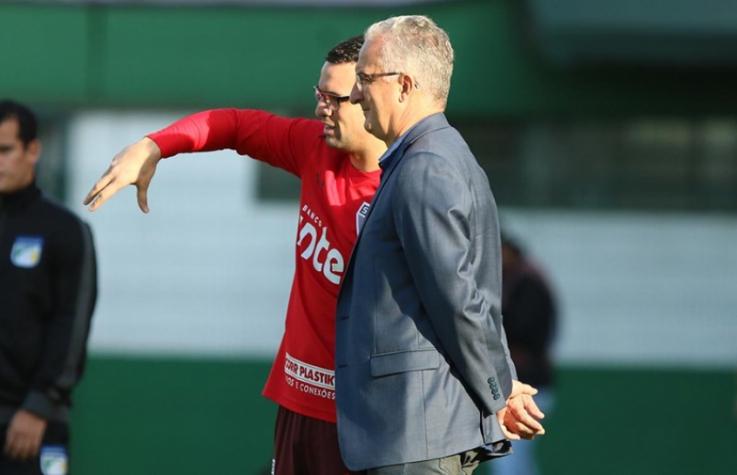Dorival Júnior e seu filho Lucas Silvestre na Arena Condá