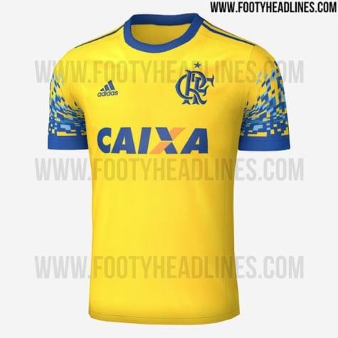 Amarela e azul  Fotos da terceira camisa do Fla circulam na Internet ... 3ad3b29ff58b7