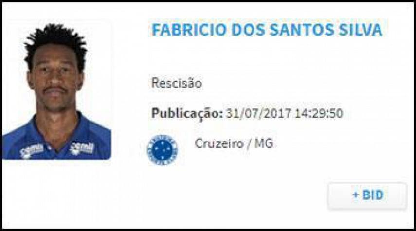 Atlético-PR anuncia oficialmente a contratação do lateral Fabrício, ex-Cruzeiro