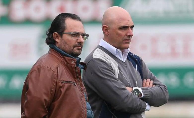 Alexandre Mattos ao lado de Mauricio Galiotte (Foto: César Greco/Palmeiras)