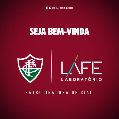 Fluminense confirma LAFE como patrocinadora até o final de 2018  02dc2c6c1b65a
