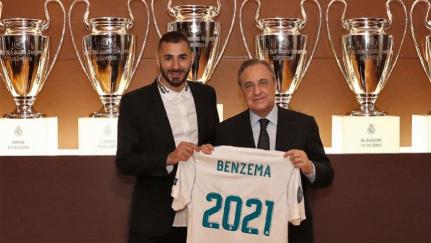 Real Madrid anuncia renovação contratual de Benzema