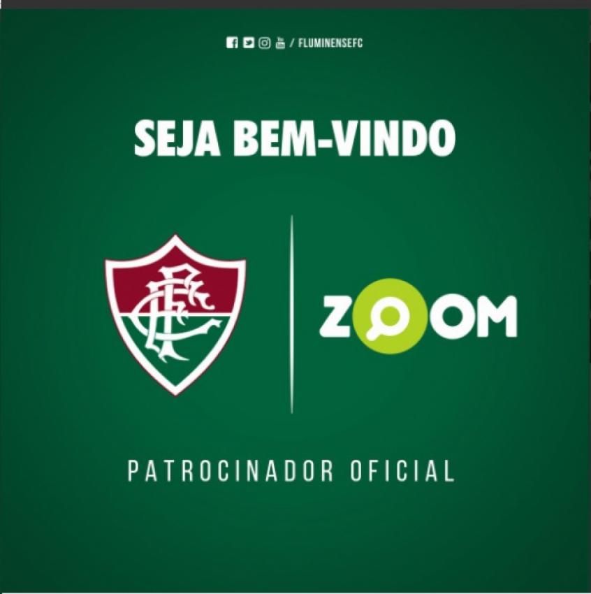 99e5381f11 Fluminense anuncia patrocínio do site Zoom até o fim de 2017