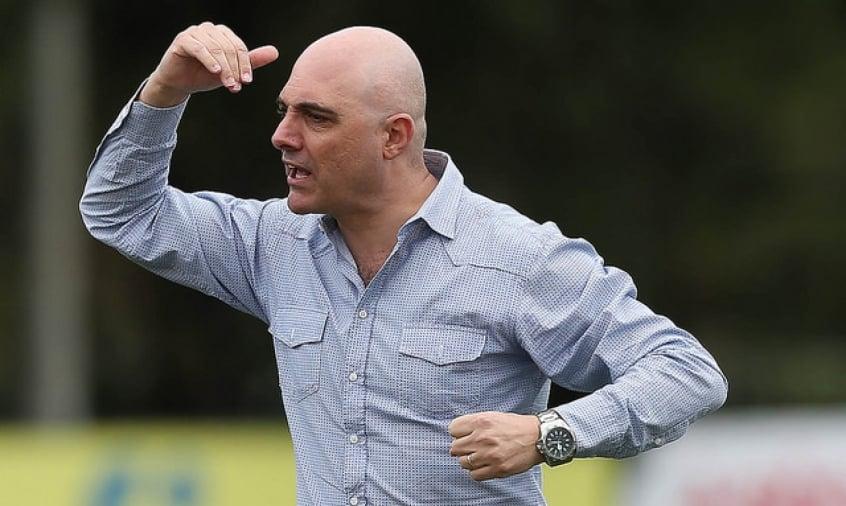 Maurício Galiotte tem reunião com o elenco do Palmeiras