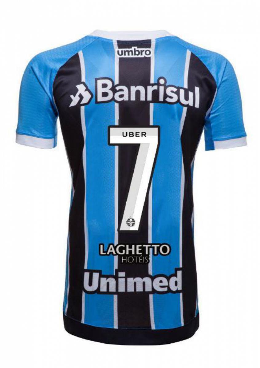 f3cb35cb67 Camisa do Grêmio terá logotipo da Uber dentro do número (Foto  Divulgação)