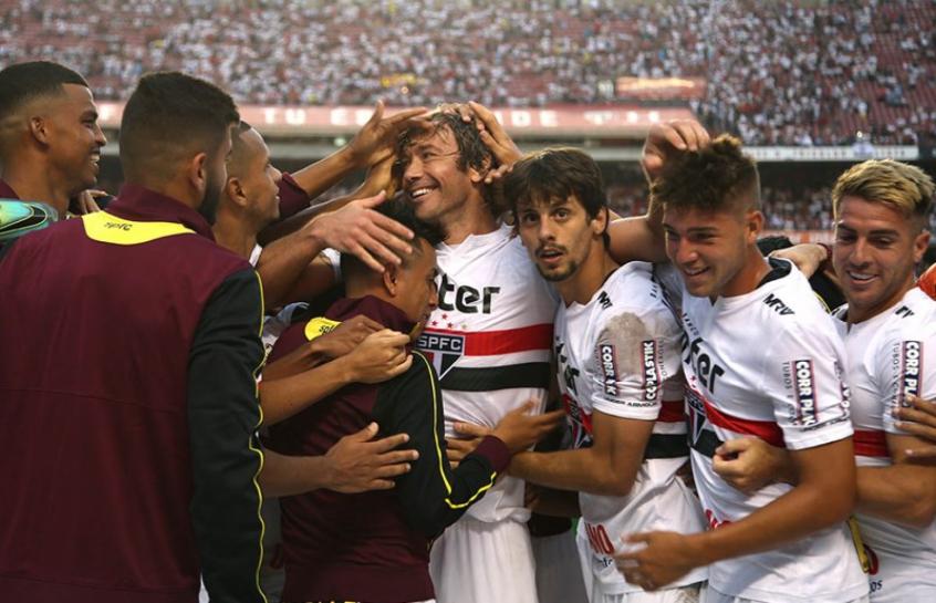 Lugano em seu último jogo no São Paulo