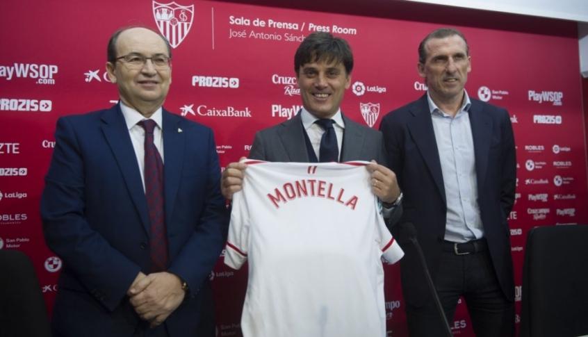 Montella é apresentado no Sevilla e se empolga: 'Encantado com o clube'
