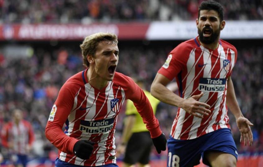 577e6cc7f400b Griezmann e Diego Costa - Atlético de Madrid x Celta de Vigo. Griezmann foi  destaque na Liga Europa ...