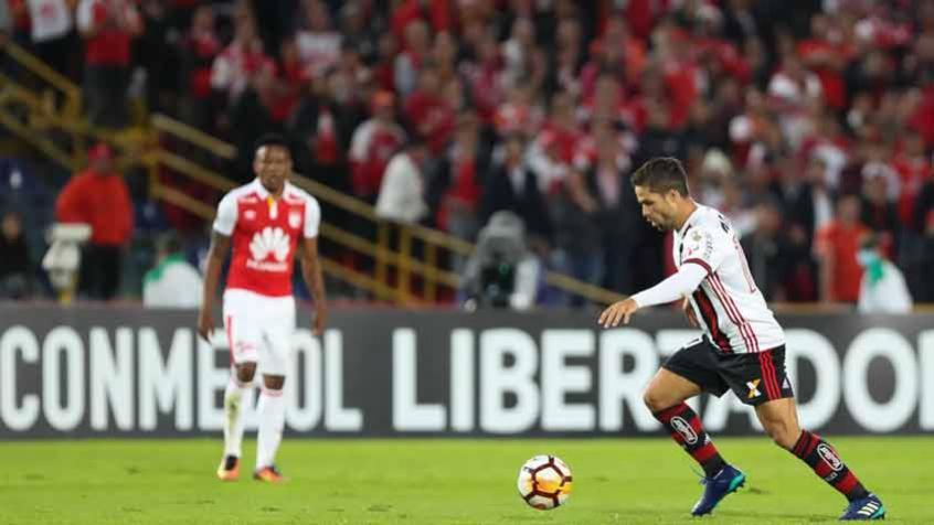 Diego vê superação do Fla e valoriza ponto como visitante na Libertadores.  Após dois empates seguidos com o Santa Fe 21da7b8d1419b