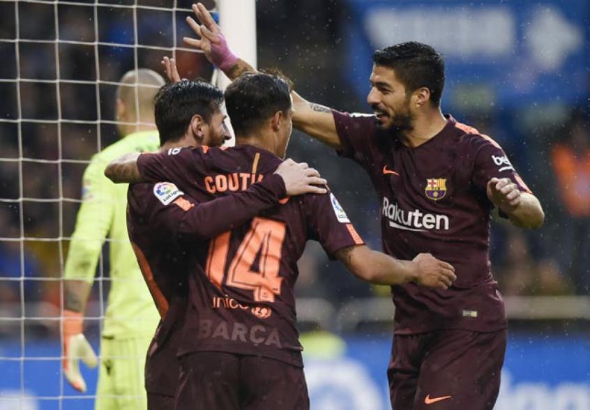 Gol de Messi - Deportivo La Coruña x Barcelona 40db75b07d8fb
