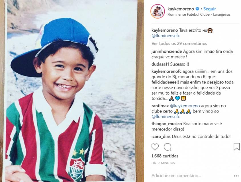 79f62938df675 Kayke acertou a sua rescisão com o Bahia e é o novo reforço do Fluminense  (Foto  Reprodução)