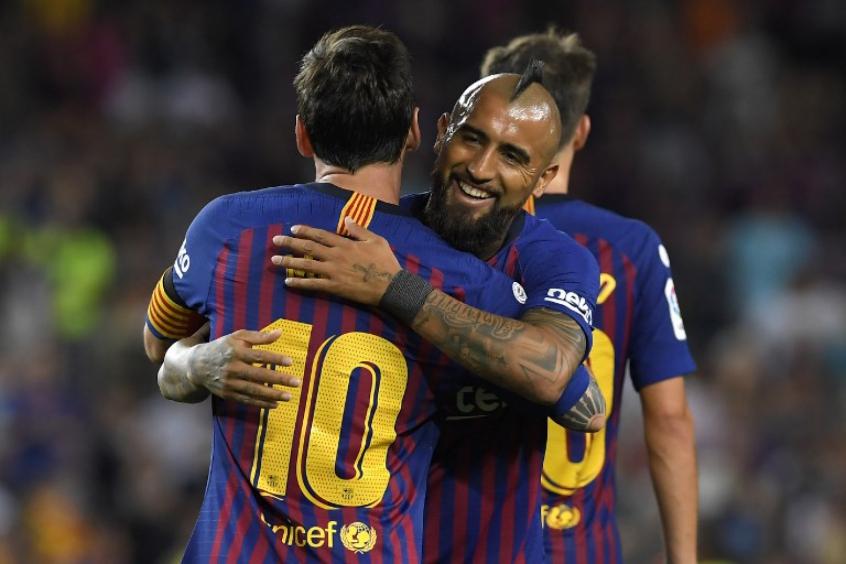 Messi e Vidal - Barcelona