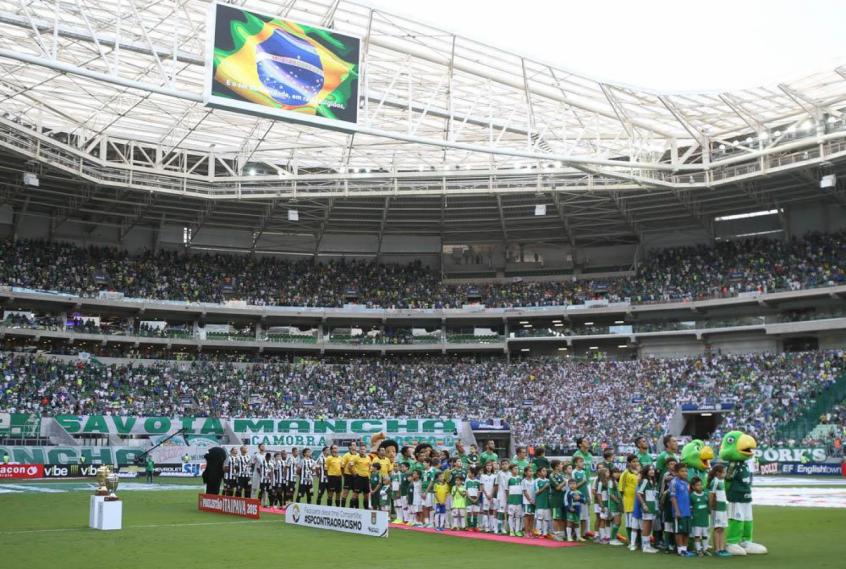 0ef2194089 Palmeiras levantará o troféu do Campeonato Brasileiro depois do jogo deste  domingo (Cesar Greco Ag. Palmeiras)