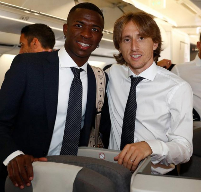 Vinicius Júnior e Modric - Real Madrid