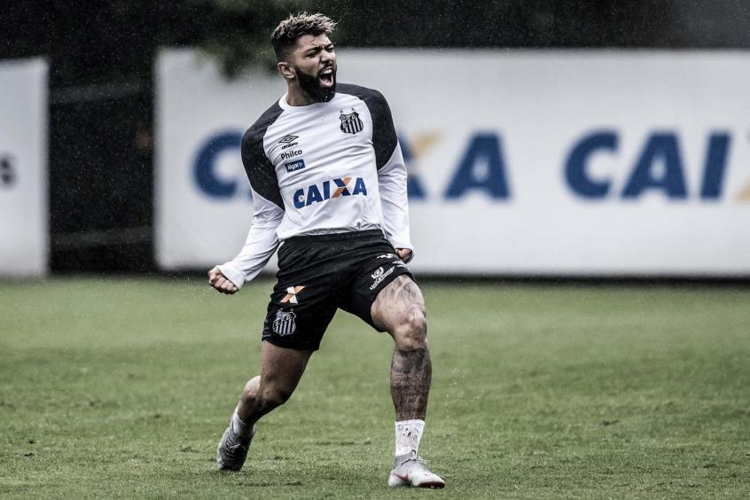 8bd98f739157f Gabigol  com quatro gols na Copa do Brasil