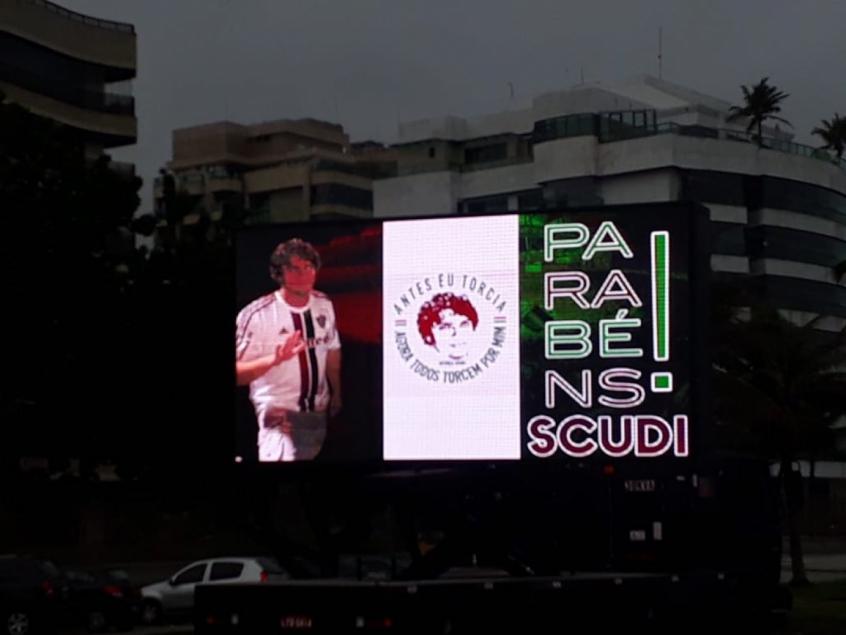 Pedro Scudi  grupo monta ação de aniversário para torcedor agredido ... a23fcc3b604fb