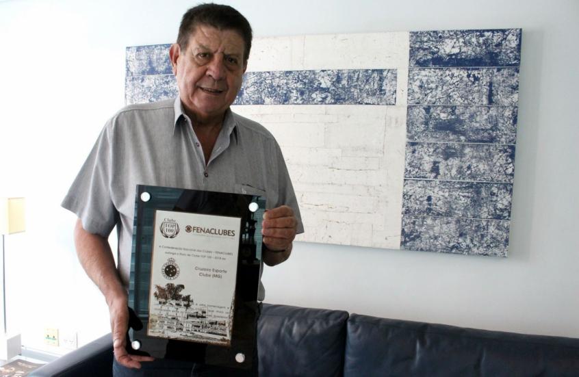 Cruzeiro recebe título de clube TOP 100 pela terceira vez no Brasil