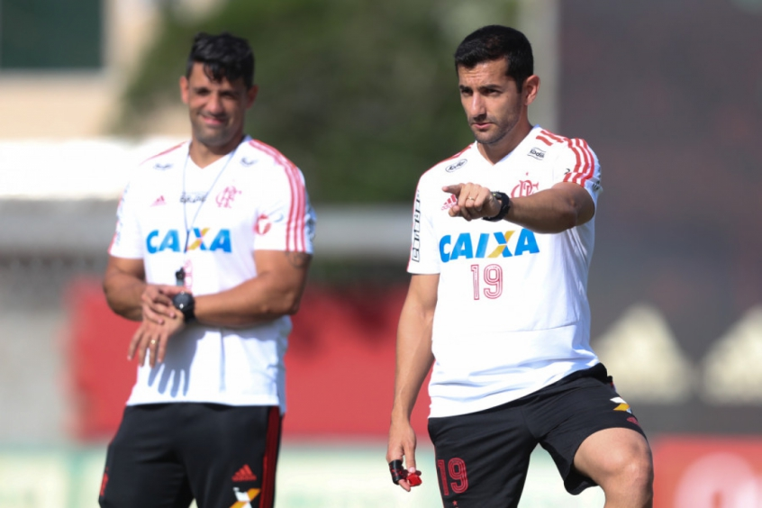 Diogo Linhares e Leonardo Porto - Preparador físico e auxiliar técnico do Flamengo