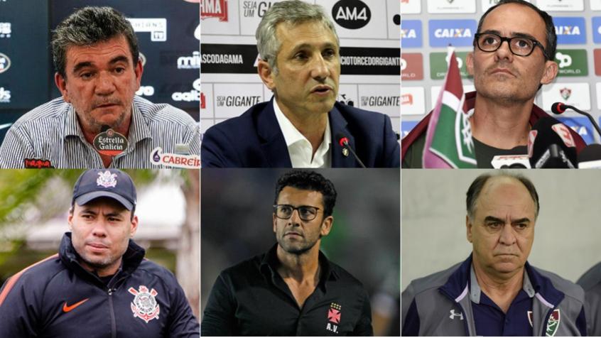 Montagem - Presidentes/Técnicos (Corinthians, Vasco e Fluminense)
