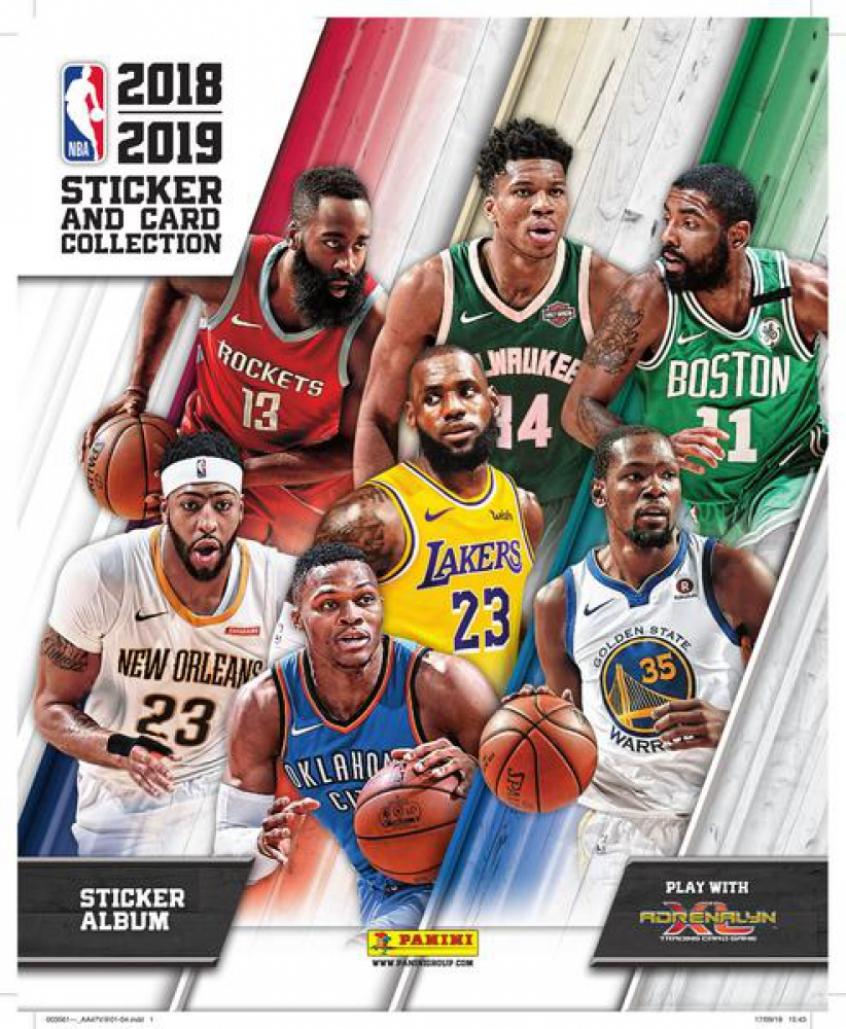 9b533c4328da Panini lança álbum de figurinhas da nova temporada da NBA nesta ...