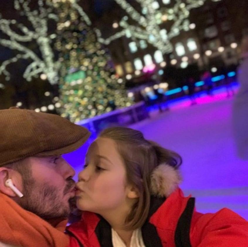 fc8378e1037591 David Beckham beija filha de 7 anos na boca e causa polêmica na web ...