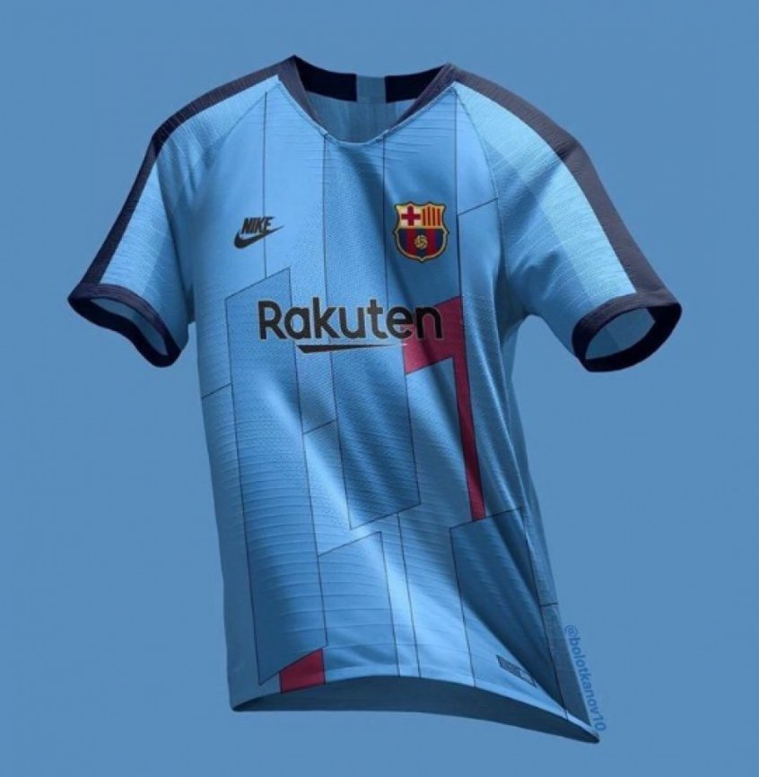 5f582f1c7 Possível nova terceira camisa do Barcelona vaza na internet