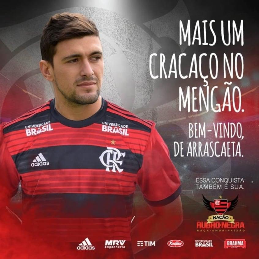 Arrascaeta é o novo reforço do Flamengo