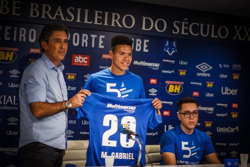 074a737877307 Marquinhos Gabriel foi o primeiro reforço contratado para 2019 a entrar em  campo pelo Cruzeiro- Divulgação Cruzeiro