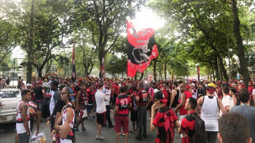 Torcida do Flamengo na Gávea
