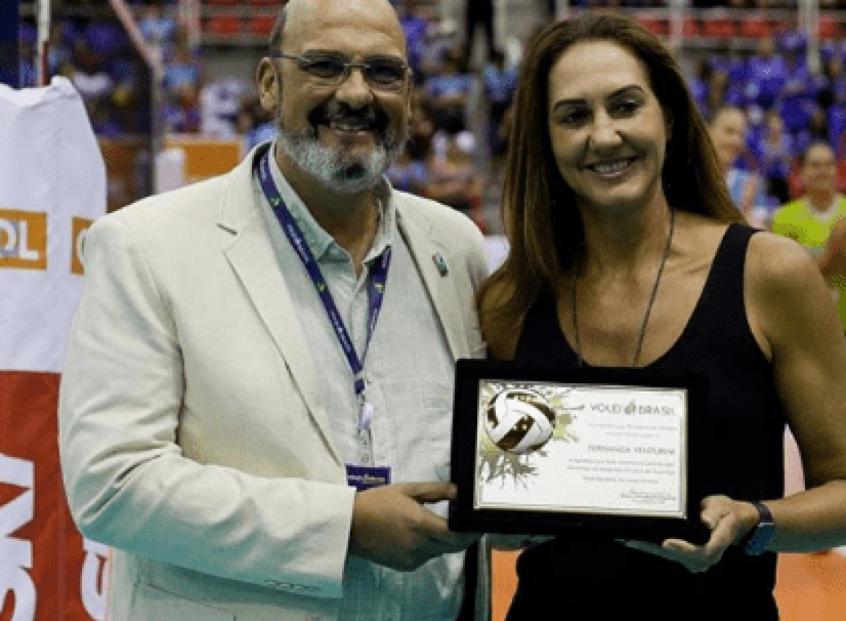 Fernanda e Renato D´Avila, dirigente da CBV