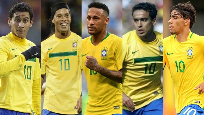6090f76574428 De Ronaldinho a Paquetá  os camisas 10 da Seleção Brasileira na ...