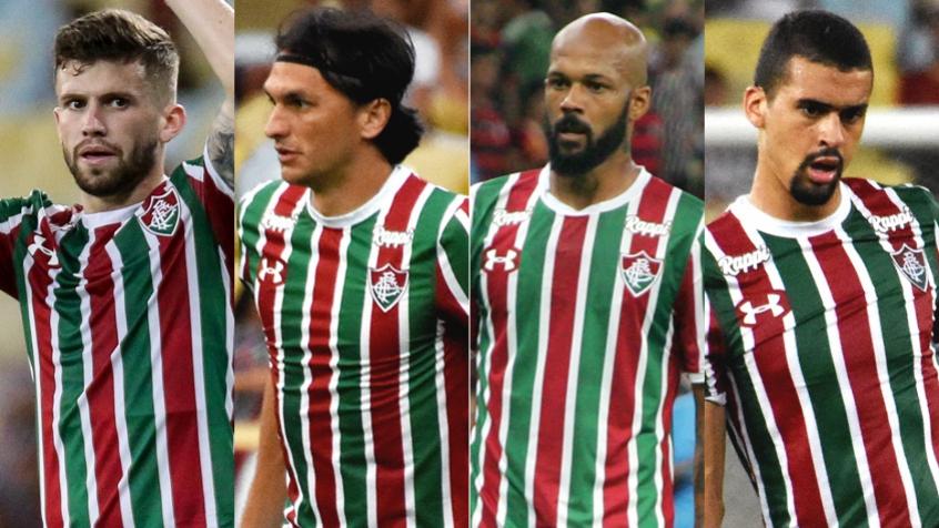 57f2ca8c6a3ed Montagem Fluminense - Caio Henrique   Matheus Ferraz   Bruno Silva   Leo  Santos