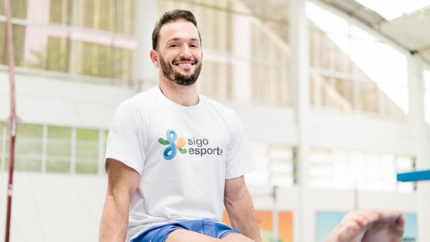 Diego Hypolito é um dos atletas que aderiram à iniciativa da Sigo Esporte (Foto: Divulgação)