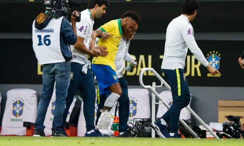 Neymar se contundiu em amistoso e foi cortado da Copa América (Foto:Reprodução)