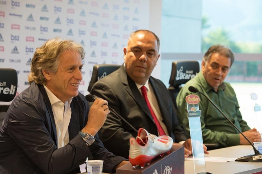 Jorge Jesus, Marcos Braz e Paulo Pelaipe
