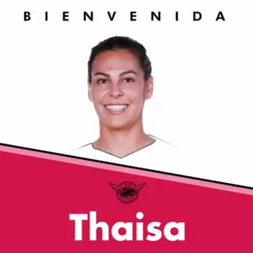 Thaisa é o novo reforço do Real Madrid/Tacón