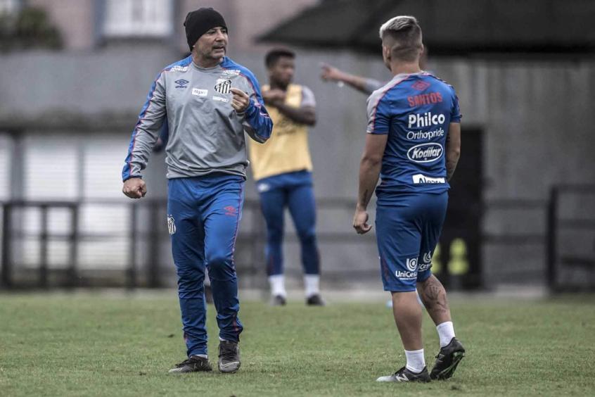Jorge Sampaoli e Soteldo - Santos